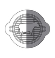 Isolated grill and cow meat design vector image