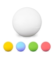Ping Pong Balls Set Colorful 3d With Shadow vector image