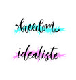 freedom and idealiste holland world idealist vector image