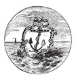 the official seal of the us state of rhode island vector image
