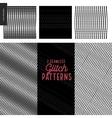 Glitch patterns set vector image
