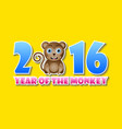 2016 year monkey chinese animal sign vector image vector image