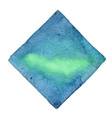 abstract emerald green and deep blue square vector image vector image
