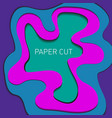 abstract liquid paper cut background papercut vector image
