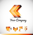 Arrow forward concept logo 3d icon design vector image vector image