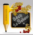 back to school design with pencil as tree leaves vector image