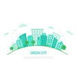 banner or poster with an ecological green city vector image