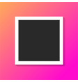 black and white photo frame on trendy gradient vector image vector image