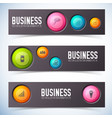 business buttons banners set vector image vector image