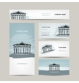 Business card design antique style building with vector image vector image