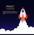 business startup banner startup rocket in space vector image