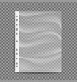 cellophane business file a4 size empty vector image vector image