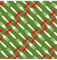 Christmas cutlery pattern background vector image