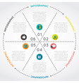Circular Chart Infographic Template vector image vector image