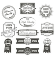 Collection of labels with retro vintage styled vector image vector image