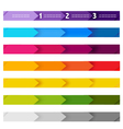 Colorful Tabs vector image