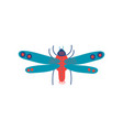 cute colorful flying insect top view vector image vector image