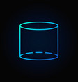 cylinder blue outline icon vector image vector image