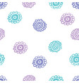 doodle flowery seamless pattern vector image