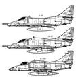 douglas a-4 skyhawk vector image vector image
