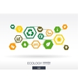 Ecology Hexagon abstract background vector image vector image