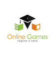 education online games logo vector image vector image