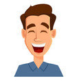 face expression of a man - laughing male emotions vector image vector image