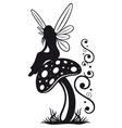 Fairy mushroom autumn vector image vector image