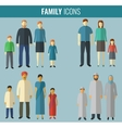 Family icons set Traditional Culture vector image