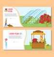 flower floristic shop set vector image vector image
