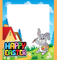 frame with easter bunny topic 5 vector image vector image