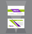 geometric green and purple business card vector image