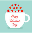 happy valentines day teacup mug tee coffee cup vector image
