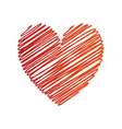 Heart painted symbol vector image