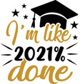 i m like 2021 done funny hand lettering vector image