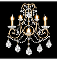 included sconces with crystal pendants vector image vector image