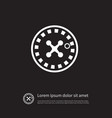 isolated chance icon wheel element can be vector image vector image