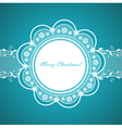 lace round frame with congratulation vector image vector image