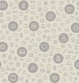 Light Seamless Pattern with Universal Icons vector image vector image