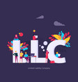 llc limited liability company concept with vector image vector image
