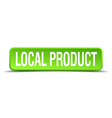 local product green 3d realistic square isolated vector image vector image