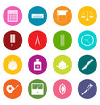 measure precision icons many colors set vector image vector image