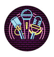 microphone sound icon vector image vector image