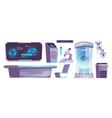 modern science laboratory equipment microscope vector image