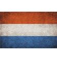 Mosaic Flag of Nederlands vector image