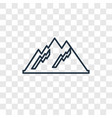 mountain concept linear icon isolated on vector image