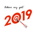 new year 2019 business concept vector image vector image