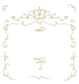 Ornate cartouche vector image vector image