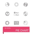 Pie chart icon set vector image vector image