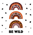 poster with wild rainbow leopard vector image vector image